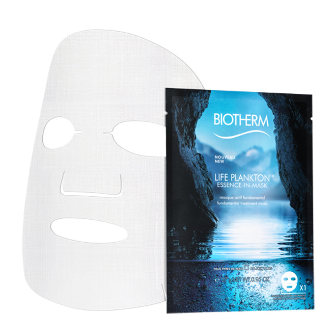 "<p><strong>Biotherm Life Plankton Essence in Mask, $12 (single sheet) or $64 (pack of 12), <a href=""https://www.biotherm.ca/en/women-care/face/collection/life-plankton/"">biotherm.ca</a></strong></p>