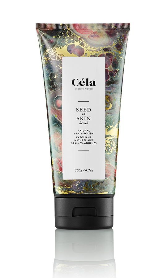 "<p><strong>Céla Seed to Skin Scrub, $42, <a href=""https://thisiscela.com/products/seed-to-skin-scrub-natural-grain-polish"">thisiscela.com</a></strong></p>