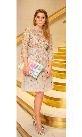 Princess Beatrice was the picture of beauty when she hit the town on Thursday night (July 4). While leaving the exclusive members-only club Annabel's with a friend, the 29-year-old royal rocked an embellished dress with embroidered detail by luxury brand Needle & Thread. The ornate design features a floral overlay that really screams summer!