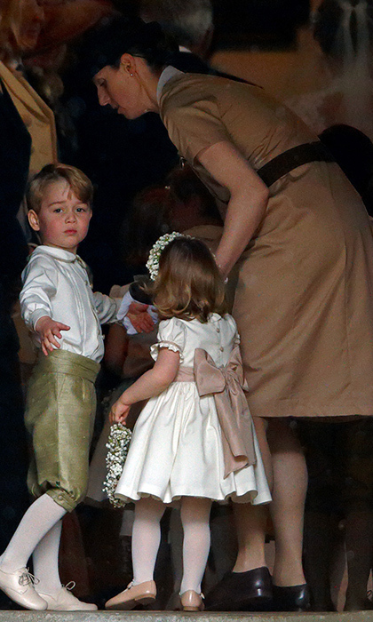 Prince George, Princess Charlotte and their highly trained nanny, Maria Teresa Borrallo. 