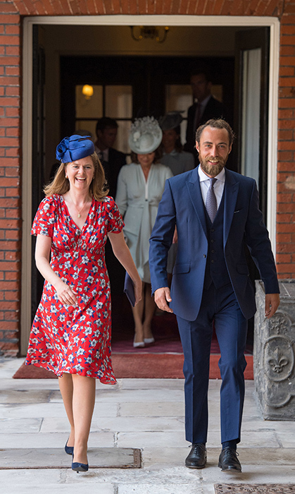 Lady Laura Marsham and James Middleton were grinning from ear to ear while arriving!
