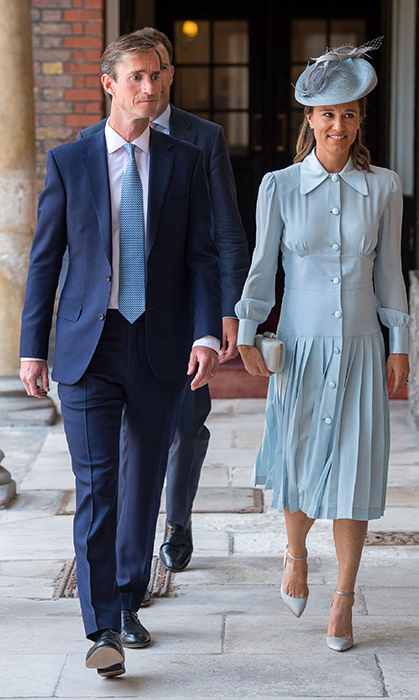 James Matthews and Pippa Middleton were the pictures of elegance at the christening. The two are expecting their first child!