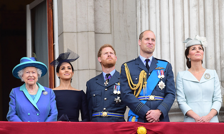 Following the ceremony, the Royal Family took to the balcony at Buckingham Palace for one of the Queen's beloved flypasts - and the monarch was clearly excited to be there! Last month the family gathered in the same spot to celebrate Her Majesty's birthday at Trooping the Colour, which marked Meghan's first flypast.