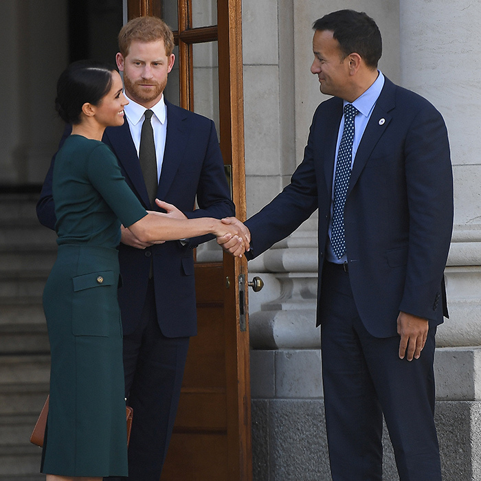 After their visit, the Duke and Duchess of Sussex said their goodbyes.