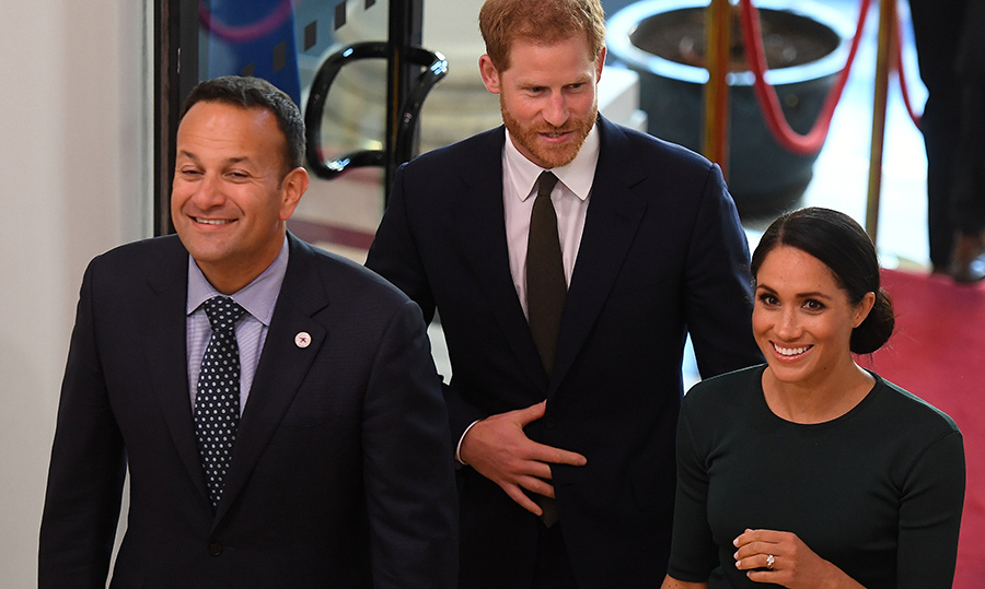 They got a royal tour around the inside of the building.