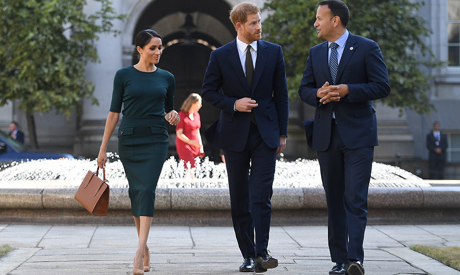How gorgeous is Meghan's bottle green Givenchy outfit?