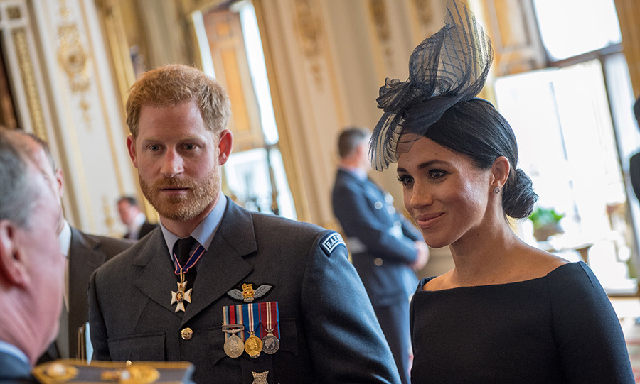 Meghan and Harry chatted with attendees at a reception following the RAF centenary service.