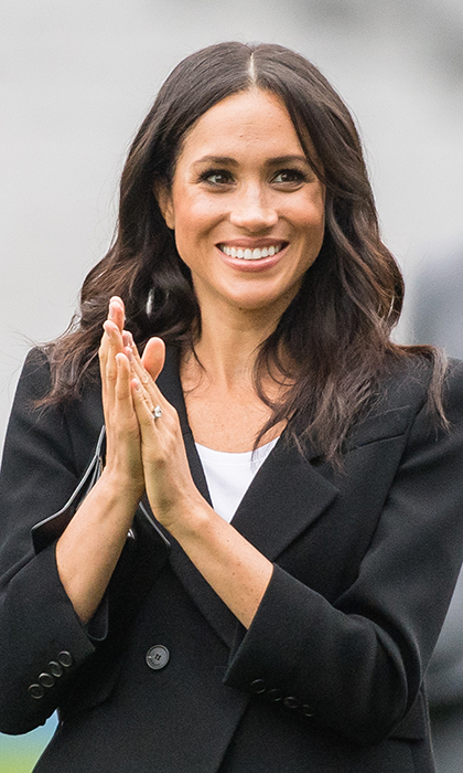 Meghan was clearly enjoying herself at Croke Park, cheering on some of the young players.