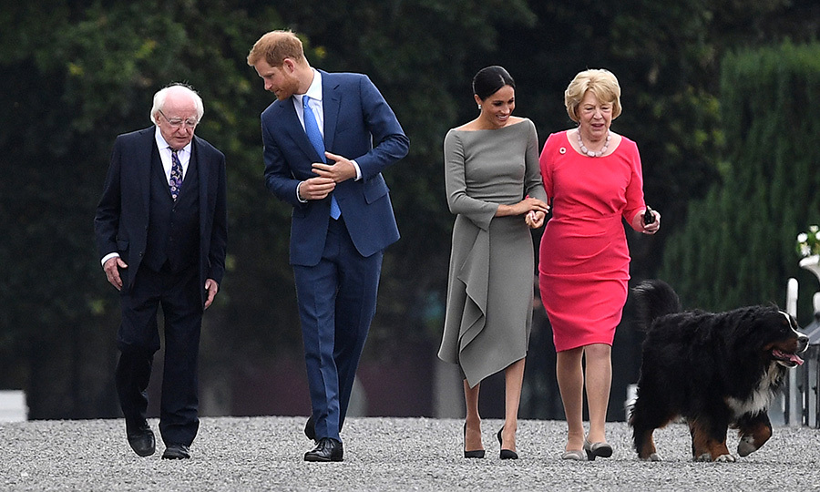 Day two began with a visit to the Aras an Uachtarain grounds to meet with the President of Ireland, Michael Higgins, and his wife, Sabina Coyne. 
