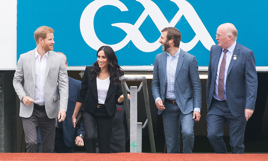Another stop of the day, the Duke and Duchess of Sussex visited Croke Park, home of Ireland's largest sporting organization, the Gaelic Athletic Association.