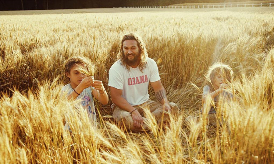 Jason's t-shirt says it all - Ohana (meaning family in Hawaiian) all the way! He couldn't seem happier watching his two babes enjoy the sun and what nature has to offer