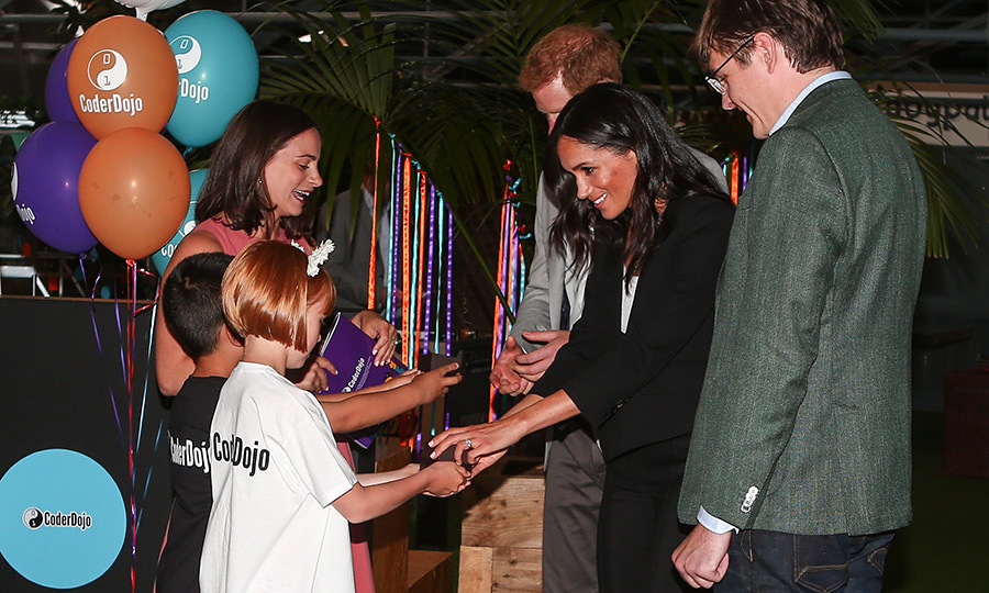 Some of the children offered the duke and duchess a couple of gifts.