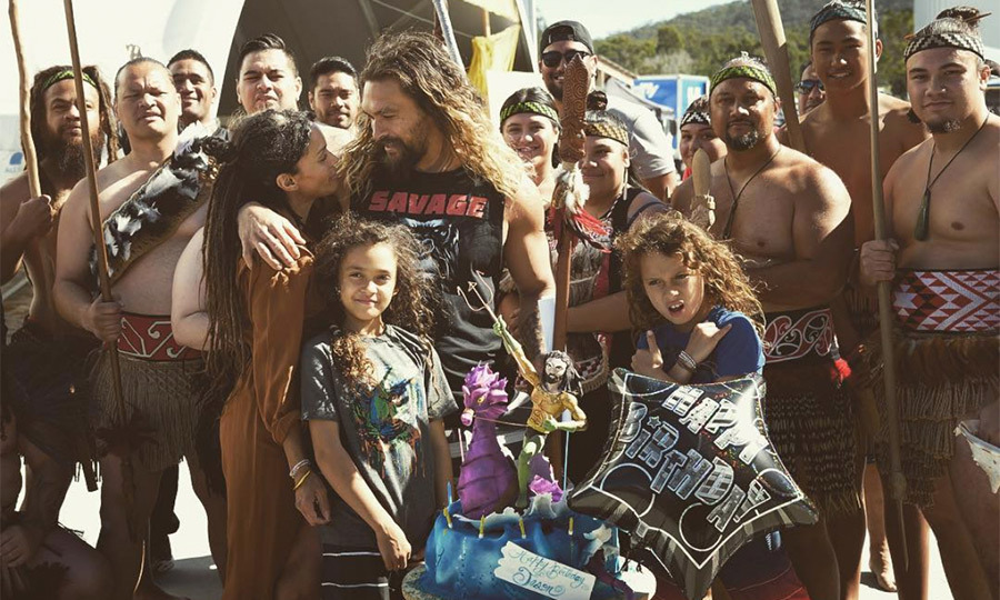 The proud father, husband and actor celebrated his 38th birthday with those he loves, including wife Lisa Bonet.