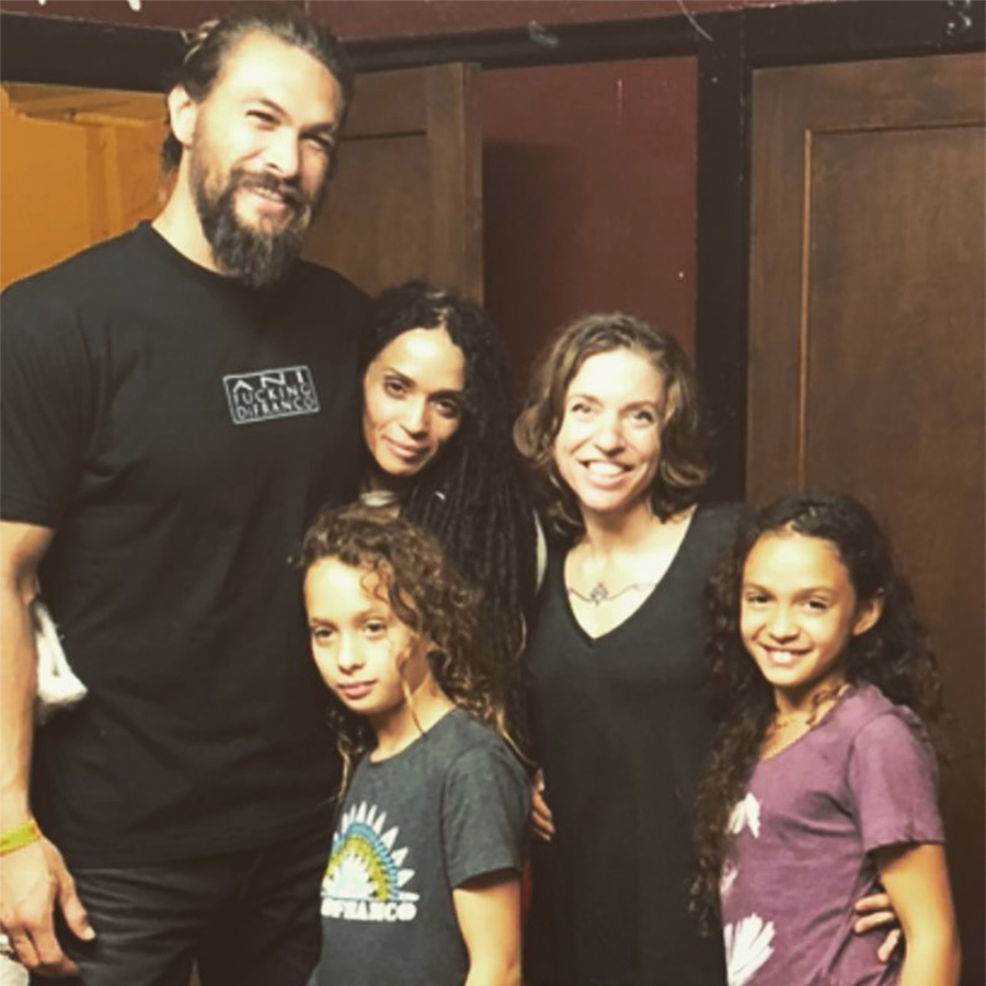 """Surreal to have my Ohana here tonight they have been listening since they were in the womb. Big Papa moment,"" Jason captioned this photo as he met his inspiration Ani DiFranco with his beautiful family by his side. 