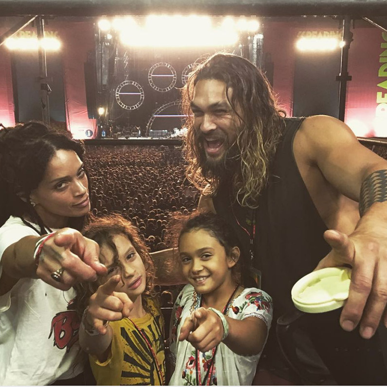 Hey you! Don't even try to skip by this loveable family rocking out at the Red Hot Chili Peppers concert. 
