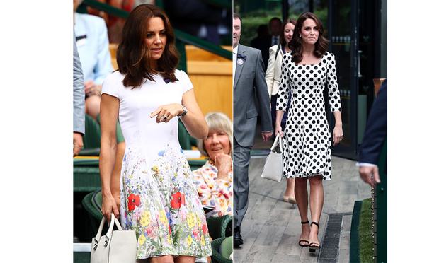 51e4be2d Kate wore two beautiful dresses for Wimbledon last year. Photo: © Getty  Images