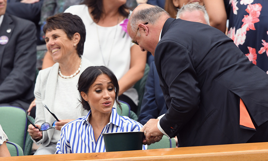 Meghan had a cute interaction with a fellow fan at Wimbledon.