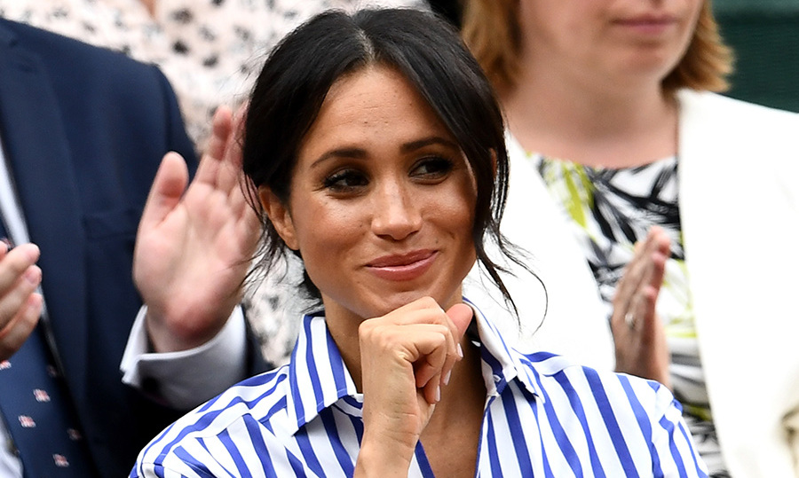 Meghan was definitely amused by the view from the royal box! 