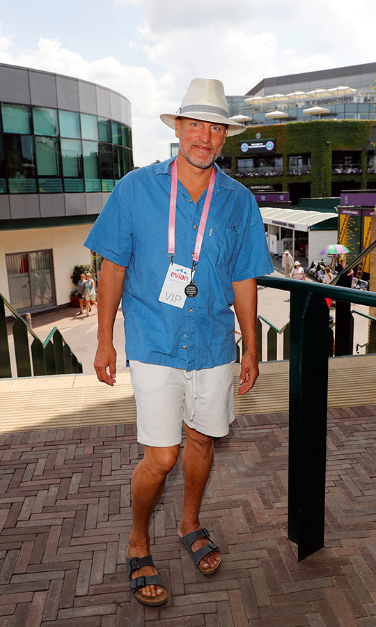 Woody Harrelson visited the Evian Live Young Suite at The Championship at Wimbledon on day twelve.
