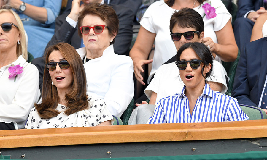 Just two of the duchesses many reactions while watching the matches!
