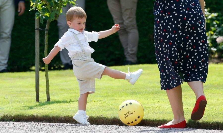 Little Oscar had a blast showing off his soccer skills. 