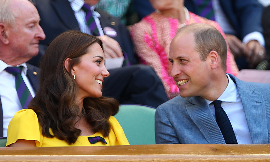 The Duchess of Cambridge had a new Wimbledon date on day thirteen - her husband, Prince William! The couple was all smiles as they chatted courtside.