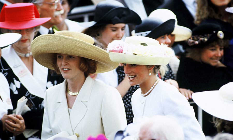 The Royal Ascot in 1991 was all about bigs hats and bigger friendships! Sarah and Diana were thick as thieves at the annual event, even down to their coordinated outfits.