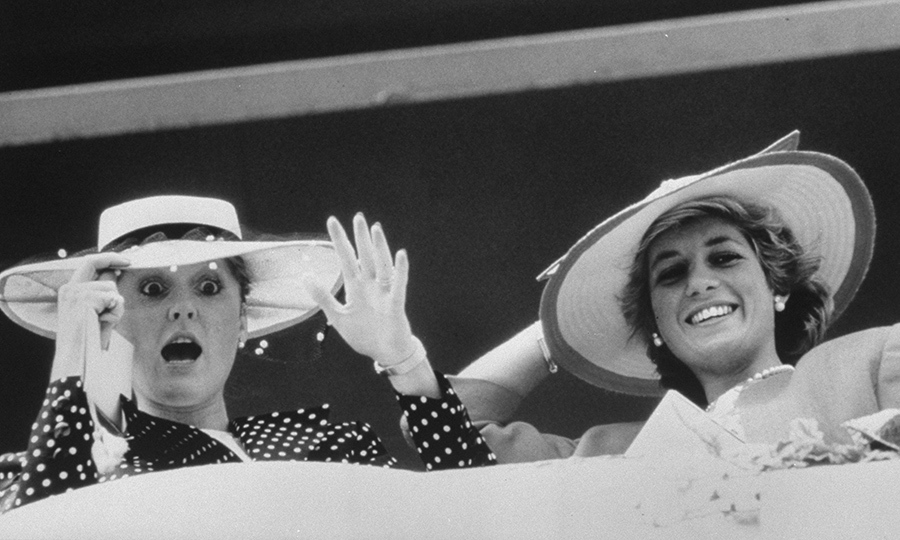 Sarah and Diana rocked wide-brimmed hats while at the Epsom Downs together.