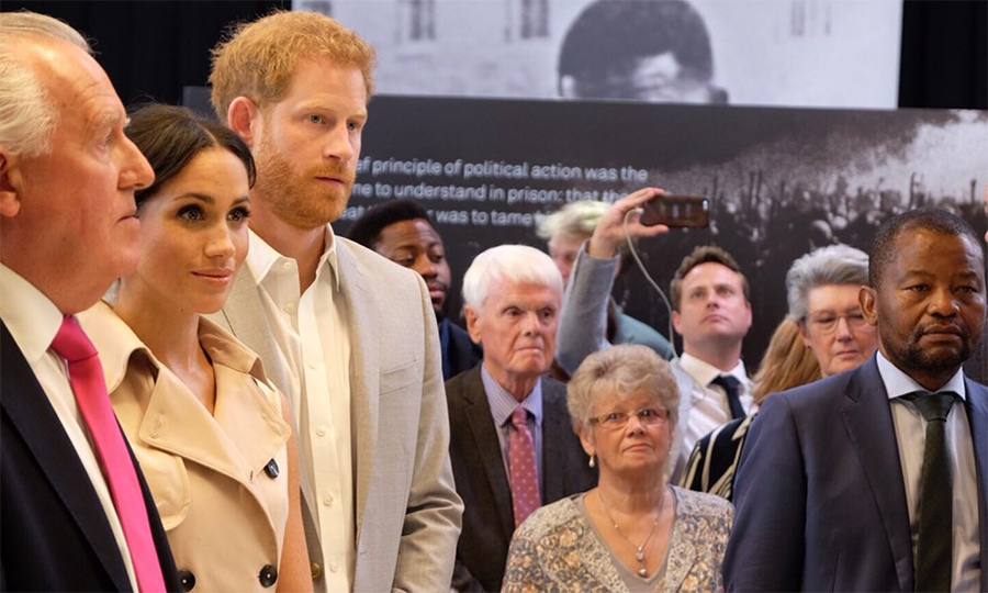 The duke and duchess listened to speeches and met with people celebrating the official opening of the exhibition that will launch two days ahead of the Southbank Centre's Africa Utopia festival.