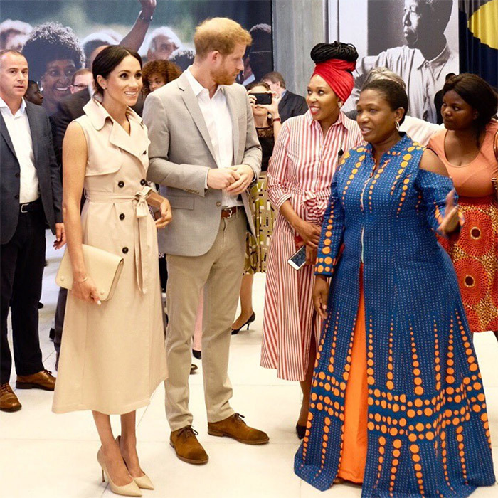 Meghan and Harry met with Nelson Mandela's granddaughter Zamaswazi Dlamini-Mandela.