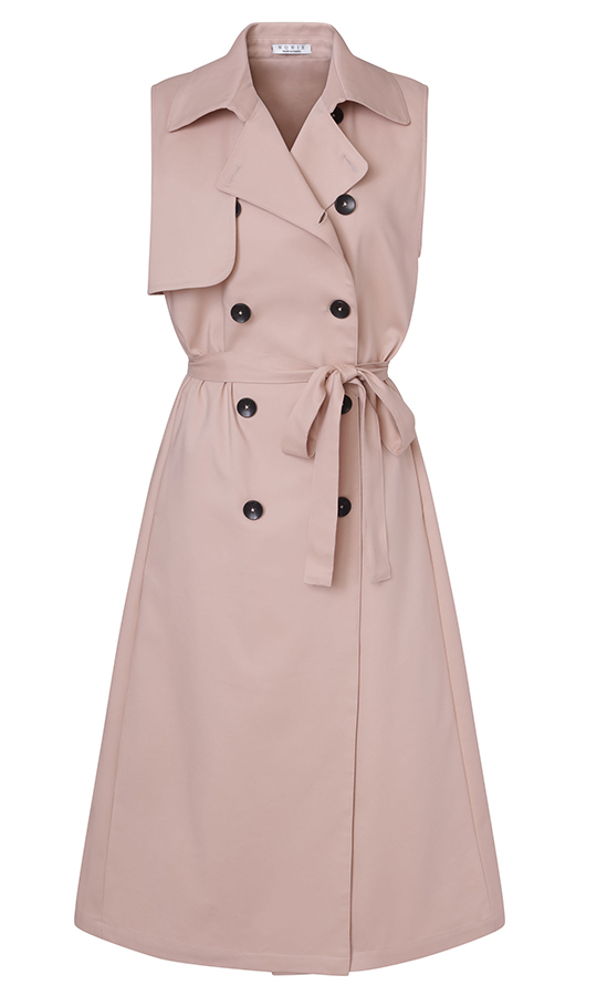 "<strong>Trench Dress, $1,085, <a href=""https://www.houseofnonie.com/store/p80/Sleeveless_Trench.html""><em>houseofnonie.com</em></a></strong>"