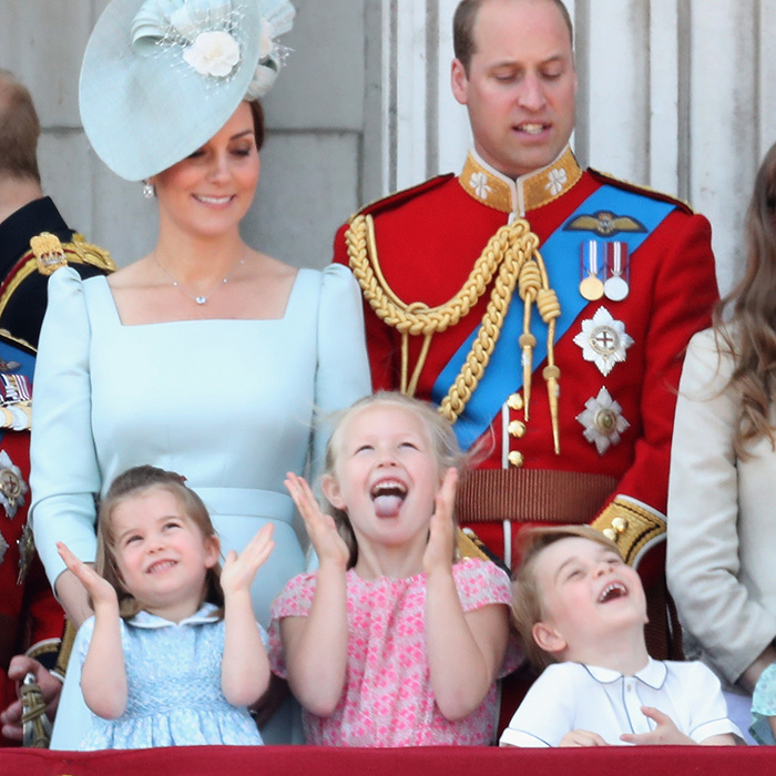 Prince George enjoyed watched the exciting flypast during Trooping the Colour!