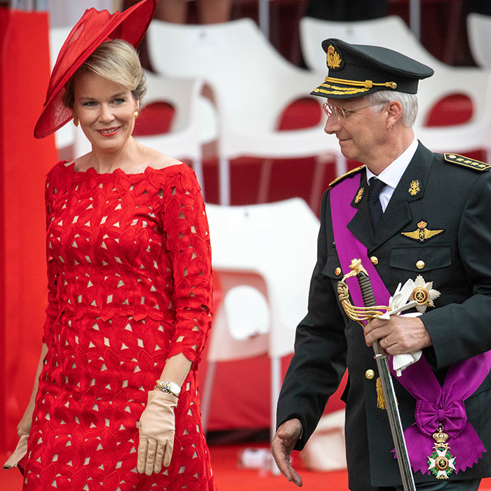 King Philip and Queen Mathilde arrived at the National day Parade on July 21 in Belgium.