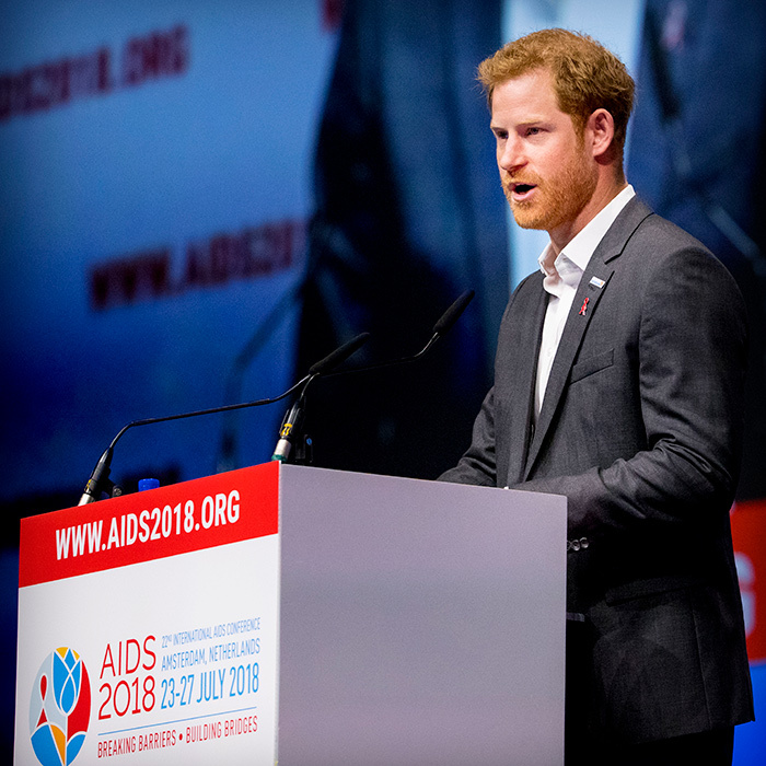 The royal spoke to delegates and other attendees about the importance of removing stigma around HIV/AIDS.