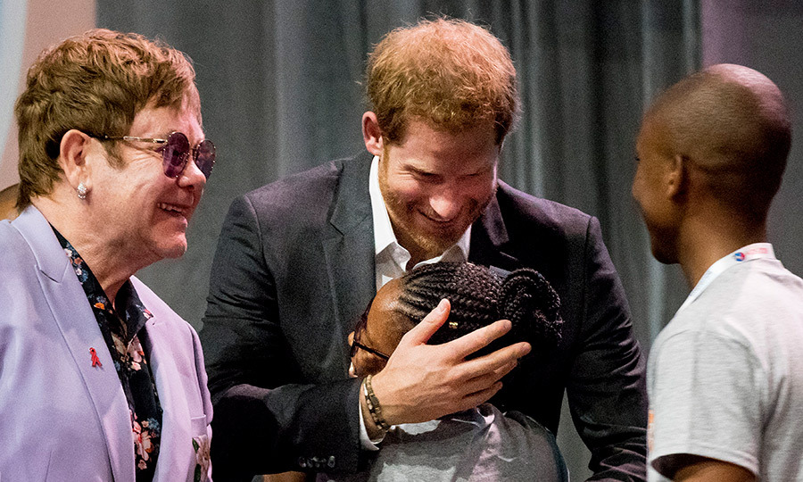 Prince Harry was giving hugs left, right and centre!