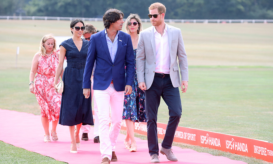 The group walked the pink carpet at the fundraiser polo match for Prince Harry's Sentebale charity. 