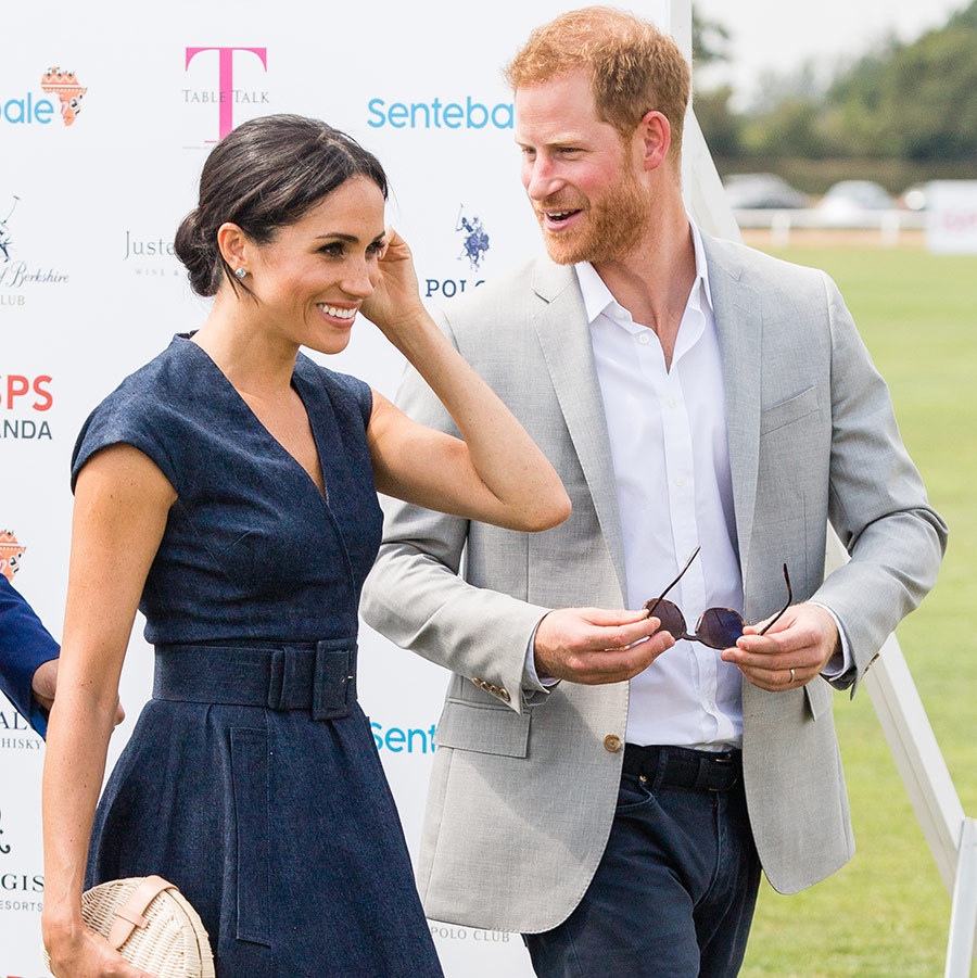 The royal couple was in high spirits as they joked around with Harry's good friend Nacho and his wife Delfina.
