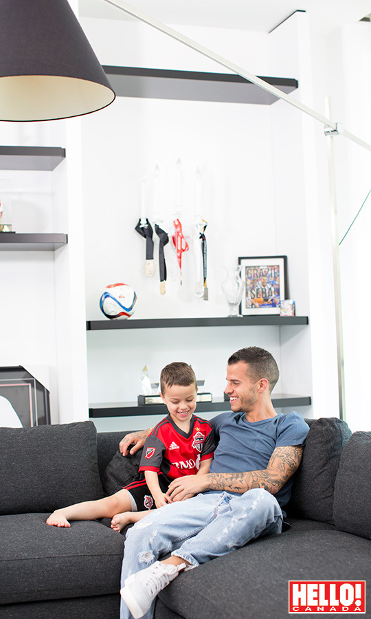 Little Jacopo is a big soccer fan just like his daddy!