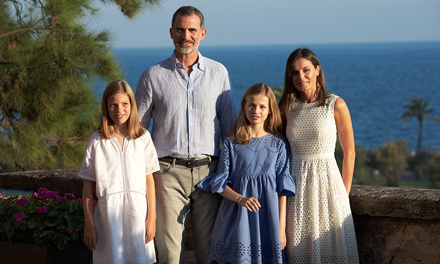 King Felipe, Queen Letizia and their daughters Princess Leonor and Princess Sofia looked happy and relaxed. Ahead of their well-earned time off, the sisters reportedly spent a month in the US at summer camp.