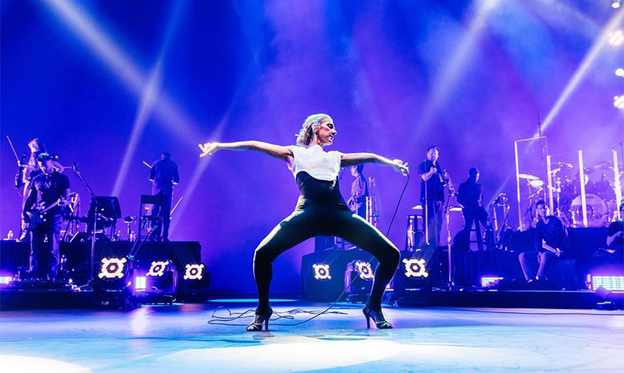 "LOL! Showing off her seriously strong stems, the singer shared this quirky shot on July 30 with the caption: ""Inventing new yoga poses at soundcheck...ouch! - Céline xx…""