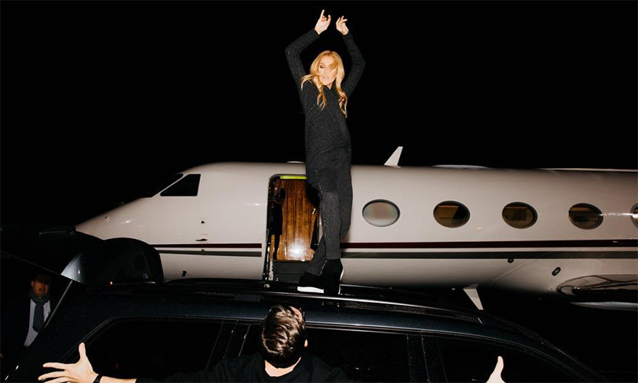 "Queen Celine has no problem dancing on her own, and everything is a stage for this one! Getting on top of a car, she took a moment to dance it out before hopping on her jet. She shared the photo on Instagram with the caption: ""Love to dance....anytime, ANYWHERE!""