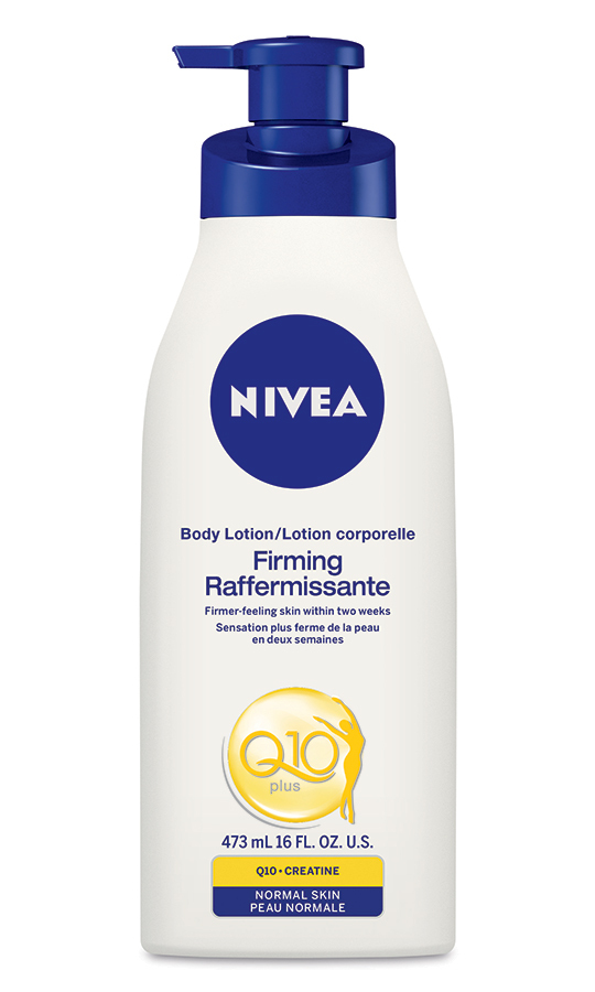 <strong>NIVEA Q10 Firming Body Lotion</strong>, $9.99, all drugstores and mass-market retailers<br>