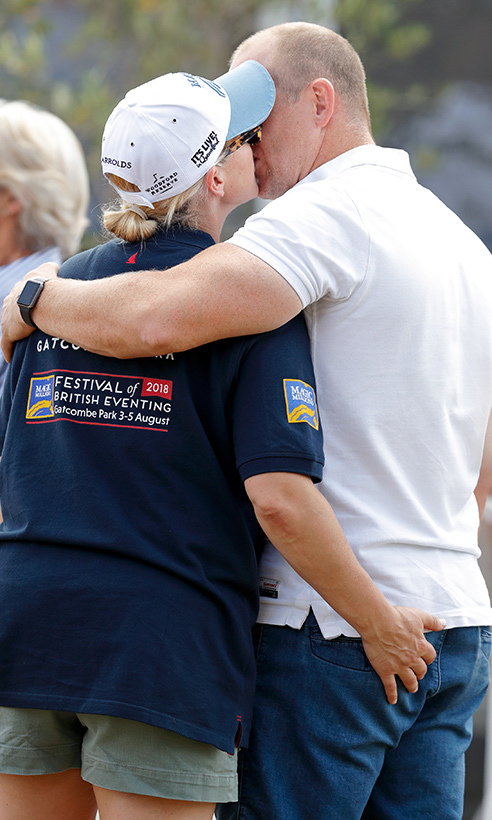 Newly minted parents of two Zara and Mike Tindall have definitely kept the spark alive in their marriage! the couple shared a kiss and a pat on the bum while at day three of the 2018 Festival of British Eventing at Gatcombe Park. The affectionate couple welcomed baby Lena to their family in mid-June, giving four-year-old Mia a little sister.