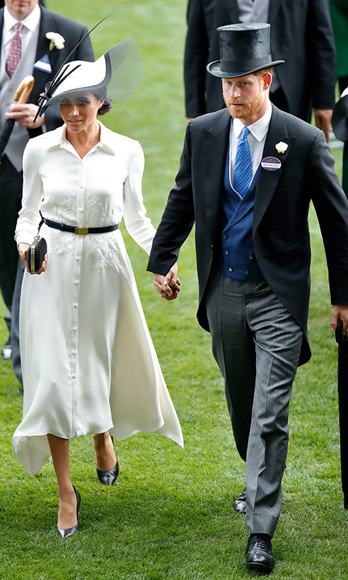 Meghan's debut at Royal Ascot was another sweet moment for the newlyweds, who clutched one another's hands while enjoying a day at the races.