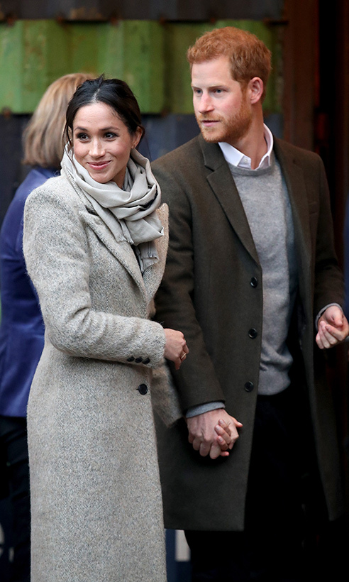 Prince Harry and his royal bride-to-be visited Reprezent 107.3FM on a day of engagements in London, where the 33-year-old held on tightly to Meghan's hand to help guide her through one of her first official outings. He has often been her guiding light through royal life!