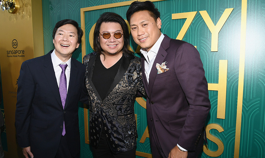 Ken Jeong, who plays Goh Wye Mun, posed with Kevin Kwan and director Jon M. Chu. The trio was all smiles at the historic film's premiere. 