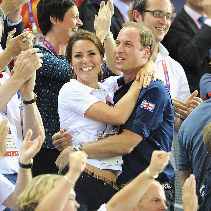 One of the Duke and Duchess of Cambridge's sweetest moments to date was this candid and genuine embrace at the 2012 Olympics in London. The couple had just watched Sir Chris Hoy cycle to victory for England and couldn't contain their excitement!