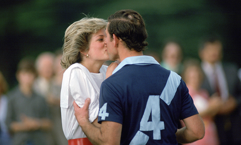 Prince Charles couldn't get enough of his late wife Princess Diana. When she came to offer a prize to her husband following a polo match in 1997, he surprised her with a more passionate kiss than expected!