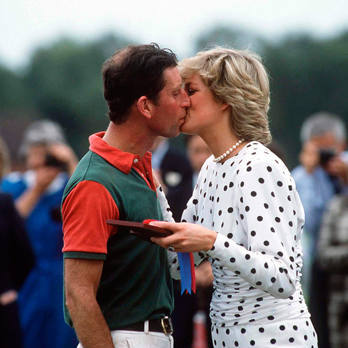 Prince Charles and Princess Diana were lip-locking once again in 1987 after he played in a match at Guards Polo Club.
