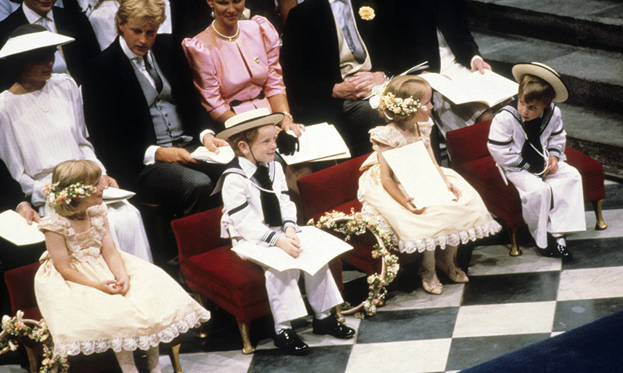 Prince William, wearing a sailor suit, made the most adorable pageboy ... and seemed to have a funny thing or two to say to fellow members of the bridal party!